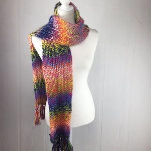 Steve Madden Chunky Knit Multicolor Scarf